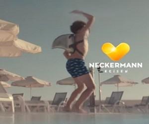 Neckermann Reisen Hai Jungen Werbung - Sei Du - es ist Dein Urlaub