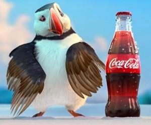 Coca-Cola Werbung 2016 - Polarbären und der Papageitaucher Puffin