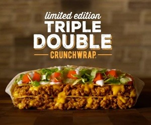 Taco Bell $5 Triple Double Crunchwrap Commercial 2016