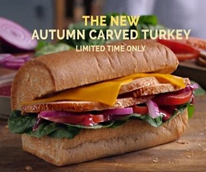 Subway New Autumn Carved Turkey Sandwich Commercial 2016