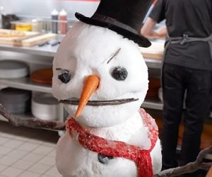 Pizza Hut Singing Snowman Commercial