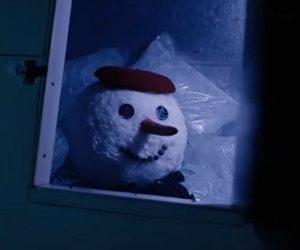 Tarjeta Naranja - Snowman