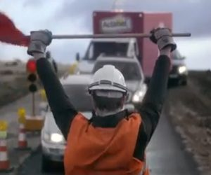 Actimel Commercial 2017 - Roadworker