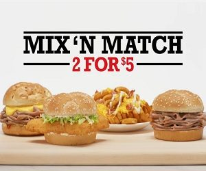 Arby's 2 for $5 Mix'n Match Commercial