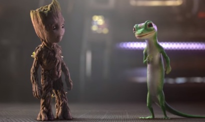 Groot and Gecko (GEICO Commercial)