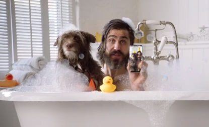 Sprint Man and Dog Commercial