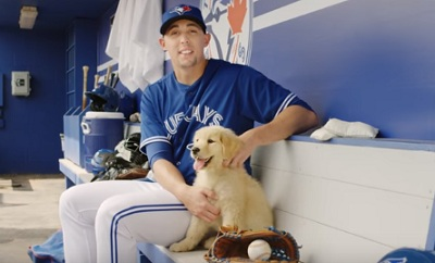 Aaron Sanchez with Puppy