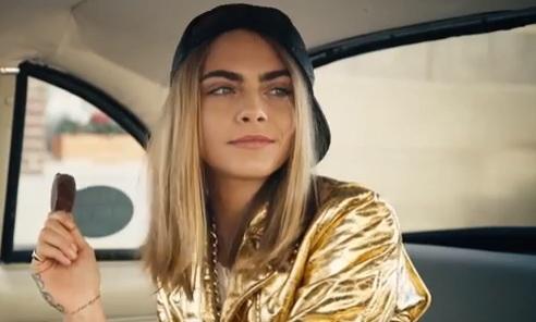 Cara Delevingne in Magnum Commercial