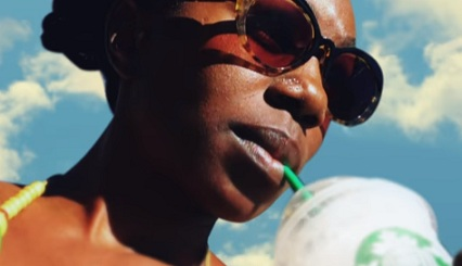 Woman in Starbucks Frappuccino Commercial