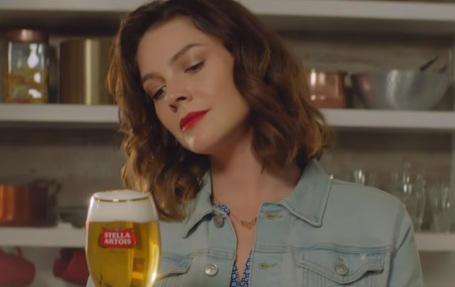 Woman in Stella Artois Commercial