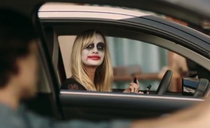 Blonde Woman in Citroen C1 Advert