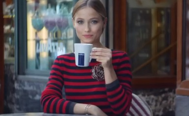Girl in Lavazza Commercial