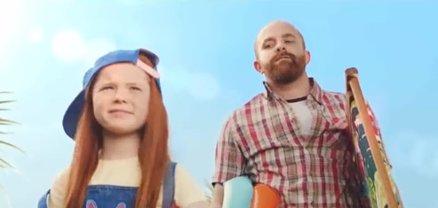 Asda TV Advert - Red Haired Girl with Dad