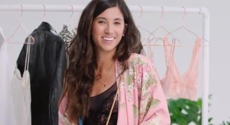 Krystal Bick in Adore Me Lingerie Commercial