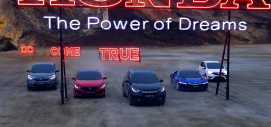 Honda Commercial - Car Range
