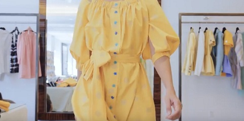 Carolina Herrera Commercial - Yellow Dresses