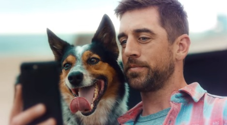 Aaron Rodgers and His Dog in State Farm Commercial