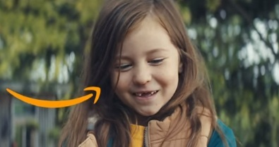 Girl in Amazon Christmas Advert