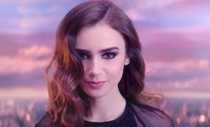 Lily Collins in Lancome Commercial