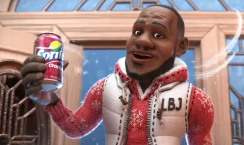 LeBron James in Sprite Christmas Commercial