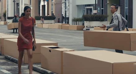 Uber Commercial with Boxes