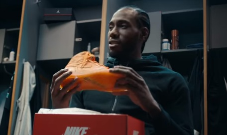 Kawhi Leonard in Foot Locker Gatorade Air Jordan 1's Commercial