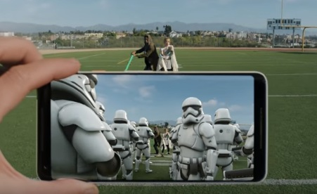Google Pixel 2 Commercial: The Last Jedi AR Stickers