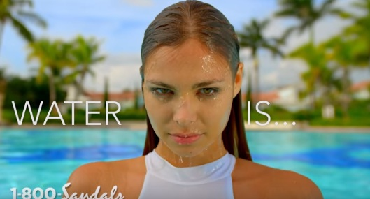 Girl in Sandals Resorts Commercial