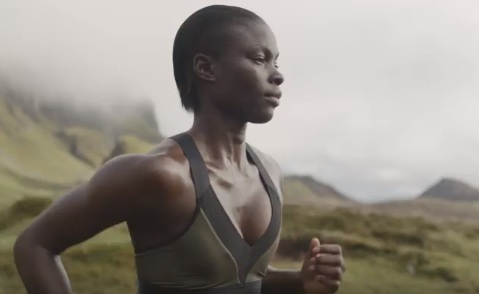 Model in H&M Conscious Sportswear Commercial