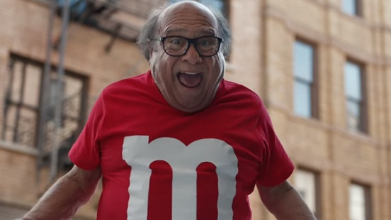 Danny DeVito in M&M'S Super Bowl Commercial