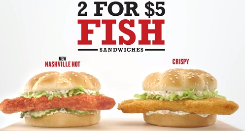 Arby's 2 for $5 Fish Sandwiches Commercial