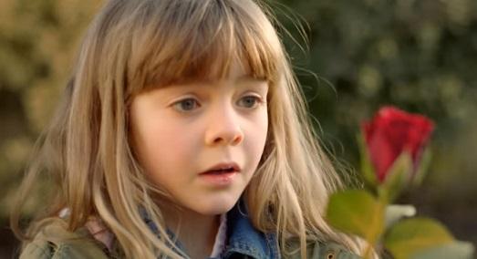 Girl in Asda Valentine's Day Commercial