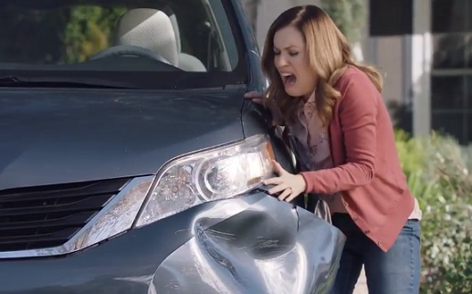 Woman Crying near Car - Esurance Commercial