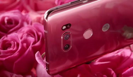 LG V30 Raspberry Rose Commercial