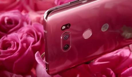 LG V30 Raspberry Rose Commercial