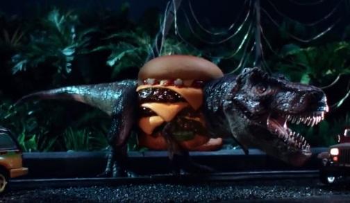 Carl's Jr. SpielBurgers Commercial - Jurassic Park