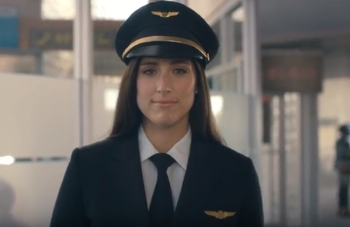 Olay Commercial - Female Airline Pilot Tristan Mazzu