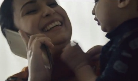 Tesco Mobile TV Advert - Mother and Little Baby