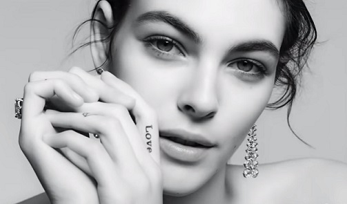 Model in Tiffany & Co. Love Commercial