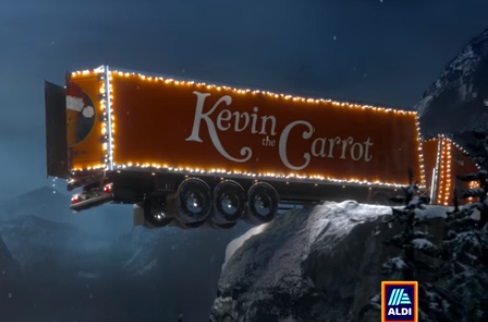 Aldi Christmas Advert - Kevin the Carrot Truck Driver