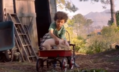 Amazon Echo Spot Boy & Pig Commercial