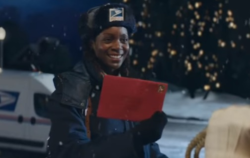 USPS Commercial Actress - Postwoman Meeting Santa