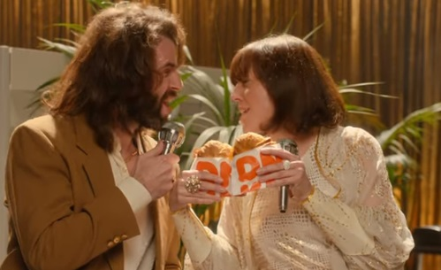 Dunkin' Go2s Menu Commercial - Man & Woman Singing a Duet