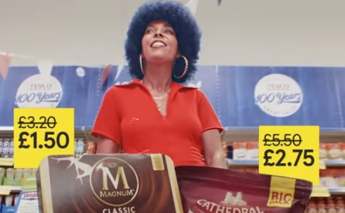 Tesco 100 Years Advert Actress