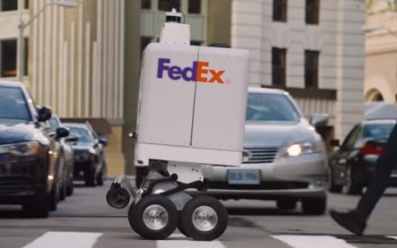 FedEx SameDay Bot Commercial - Robot Delivering Package