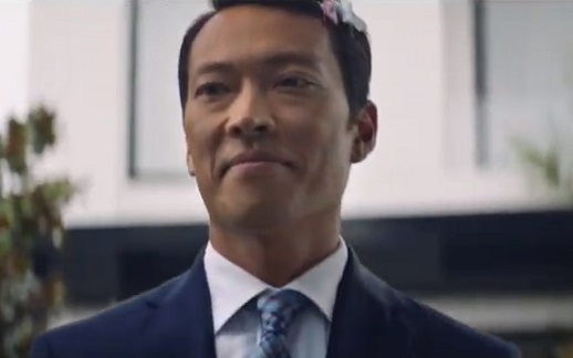 Peugeot Australia Commercial Actor - Father with Hair Pins in His Hair
