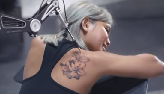 Samsung Commercial Girl - Robot Tattoo Machine