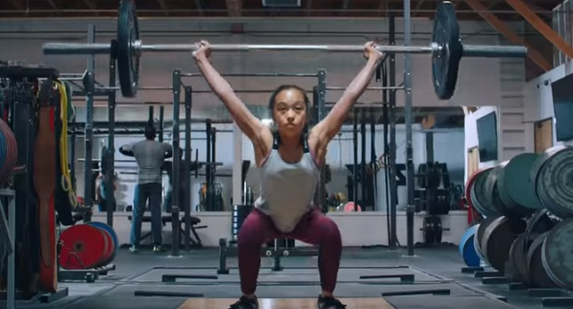 Nike Commercial Girl - Weightlifting