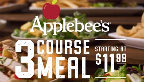 Applebee's 3 Course Meal