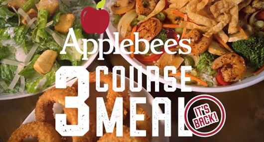 Applebee's 3-Course Meal Commercial
